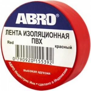 Изолента ABRO 0,18x10 9,1 м красная ET-912-18-10-RED-RW