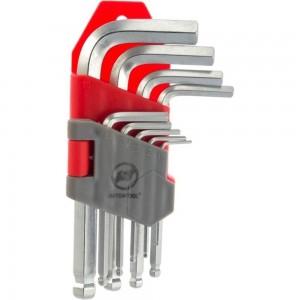 Набор шестигранных ключей ABTOMTOOL РROFFI 9 пр, с шаром, DIN3124, CrV, малые 56209 B