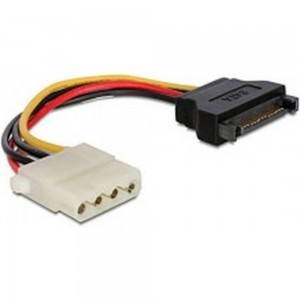 Кабель питания Cablexpert SATA 15см, sata 15pin/molex 4pin, пакет CC-SATA-PS-M