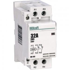 Модульный контактор Dekraft МК103-063A-230B-20 18085DEK