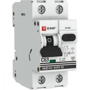 Автоматический дифференциальный выключатель EKF АВДТ-63 25А/30мА 6кА АС DA63-25-30e