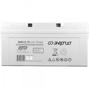 Аккумулятор Энергия АКБ 12-75 Е0201-0021