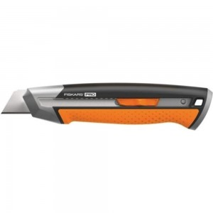 Строительный нож с выдвижным сменным лезвием Fiskars 25мм CarbonMax 1027228