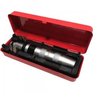 Отвертка с набором бит и адаптером Forsage ударная, 6 пр, в метал. кейсе F-5064