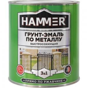 Грунт-эмаль по металлу HAMMER 3в1 б/с св.-серая 2,7 кг ЭК000125868