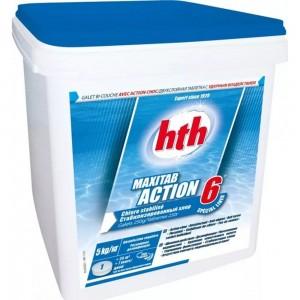 Двухслойные таблетки HTH 6 в 1 MAXITAB ACTION 1 кг K801792H1