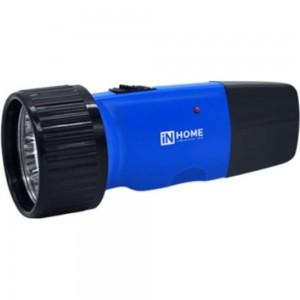 Аккумуляторный ручной фонарь IN HOME MLA 01-C 5LED 120Lm, 6ч, 2 режима, зарядное устройство 230В, синий 4690612031743