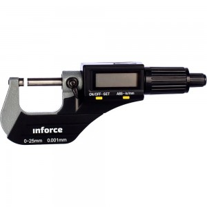Цифровой микрометр 0-25мм/0-1*0.001мм/0.00005 Inforce 06-11-44