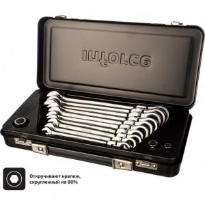 Набор комбинированных шарнирных ключей с трещоткой 13 предметов Inforce 06-05-53