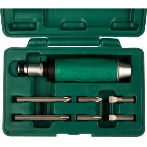 Ударная отвертка с битами Jonnesway AG010055A SL 8,10мм PH# 2,3 36мм и PH# 2,3 80мм, 7 пр. 48649