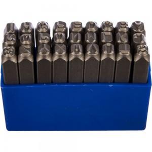 Набор ударных клейм (5 мм, буквы-латиница, 27 предметов) KING TONY 11427SQ05