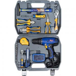 Набор инструментов с шуруповертом 58 предметов KRAFT KT 703004