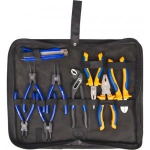Набор шарнирно-губцевого инструмента KRAFT 9 предметов сумка KT 703021