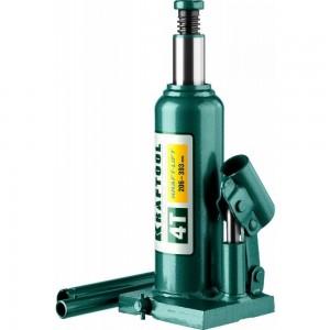 Домкрат KRAFTOOL гидравлический бутылочный Kraft-Lift, сварной, 4т, 206-393мм, 43462-4 43462-4_z01