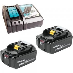 Аккумулятор 191L74-5 (2 шт; 18В; 5.0 Ач; Li-Ion) с зарядным устройством Makita 199379