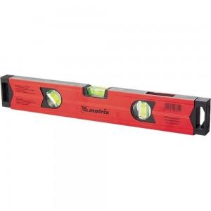 Алюминиевый магнитный уровень 1200 мм, фрезерованный, 3 глазка , усиленный MATRIX 34712