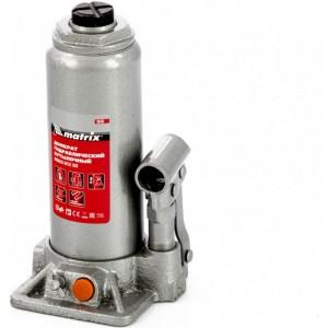 Гидравлический бутылочный домкрат MATRIX 6 т, h подъема 216–413 мм 50765