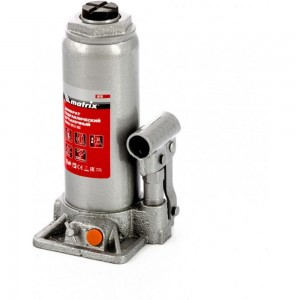 Гидравлический бутылочный домкрат MATRIX 8 т, h подъема 230–457 мм 50766