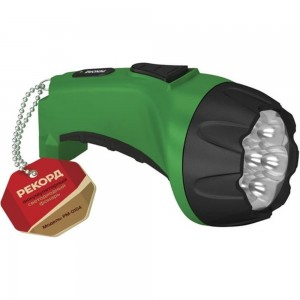 Аккумуляторный светодиодный фонарь РЕКОРД РМ-0107 Green 22538