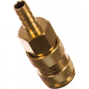 Быстроразъем пневматический с клапаном - елочка 8 мм ROCKFORCE RF-BSE1-3SH