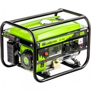 Бензиновый генератор 3,2 кВт, 230В, 4-х такт., 15 л, ручной стартер СИБРТЕХ БС-3500 94544