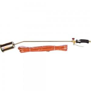 Газовая горелка (набор 58кВт, 1 горелка, шланг 5 м, рабочая температура 1850 C, O60 мм, средний расход газа 4000 г/ч, масса 1.5 кг) TOPEX 44E122