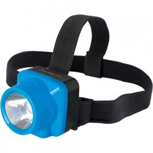 Аккумуляторный налобный фонарь Ultraflash LED5375 220В, голубой, 1 Ватт LED, 2 режима, пластик, бокс 14252