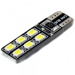 LED лампа Вымпел T10-W5W 12SMD 2835 CAN BUS WHITE 5121 (2 шт.)