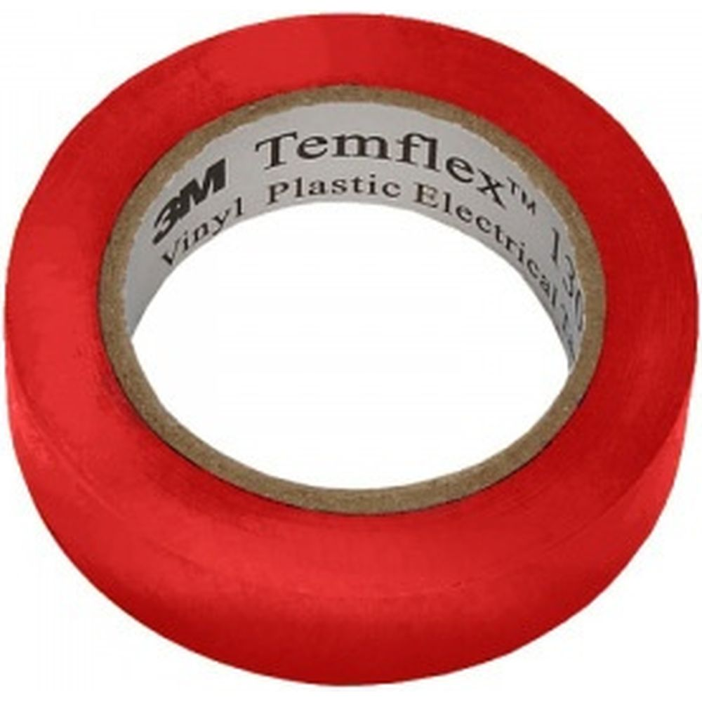 Изолента 3М Temflex 1300 ПВХ красная, рулон 15 мм x 10 м 7100080350