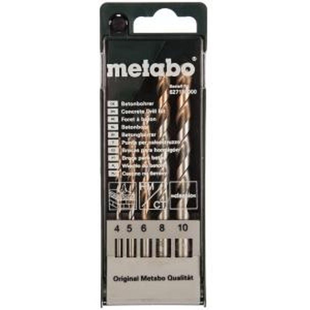 Набор сверл по бетону 5 шт. (D 4-10 мм) Metabo 627180000