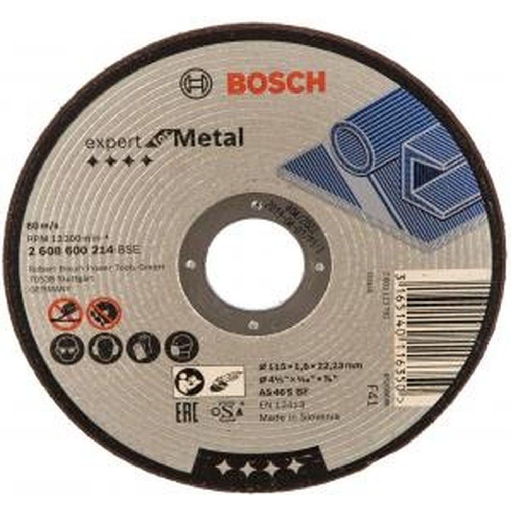 Диск отрезной по металлу 115х22,2 мм Bosch 2.608.600.005