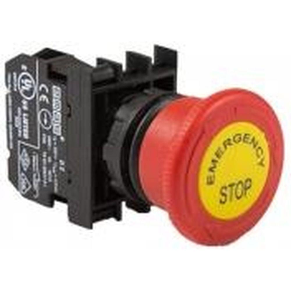 Аварийная кнопка Emas Грибок 40мм с маркировкой, 250В AC, 4А, B200EE