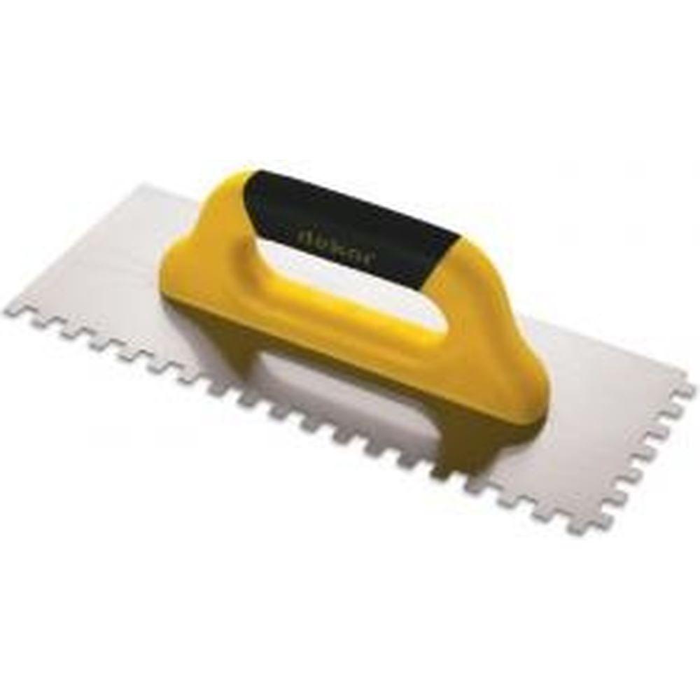 Зубчатая гладилка DEKOR HASSAN 120 х 300 мм квадратный зуб 10 х 10 мм пластиковая ручка 430