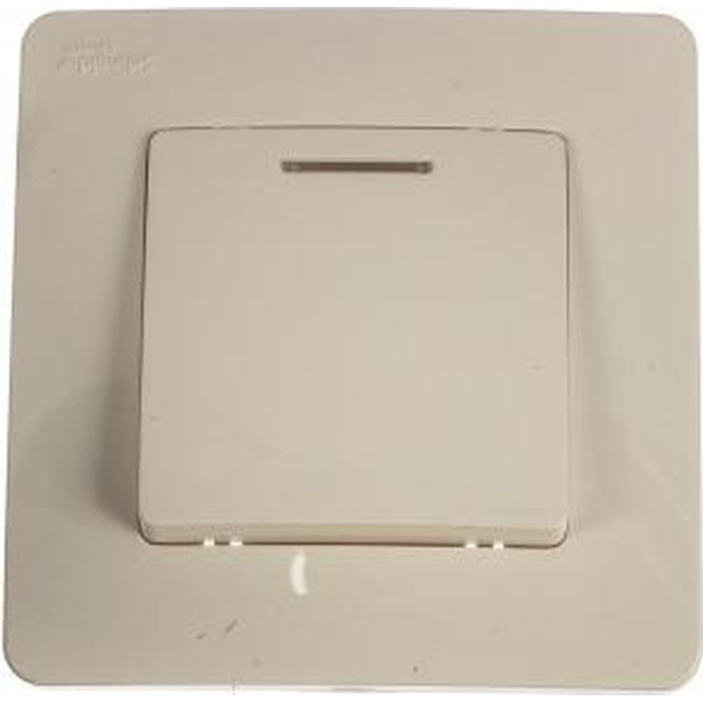 1-клавишный выключатель Schneider Electric BLANCA с подсветкой 10А, 250B, МОЛОЧНЫЙ BLNVS010112