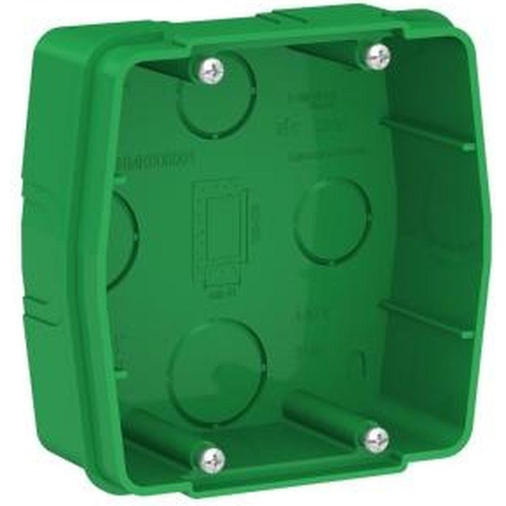 Монтажная коробка для силовых розеток Schneider Electric BLANCA, С/У, зеленый BLNMK000001