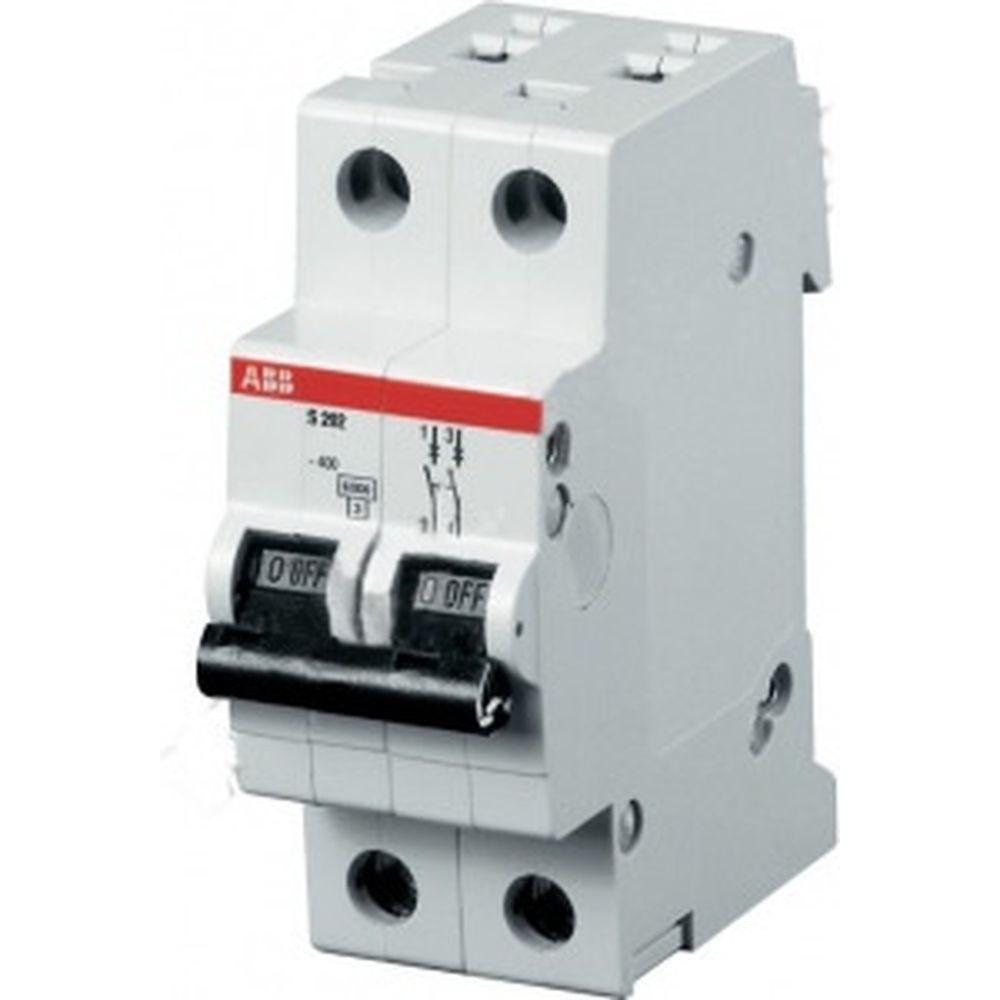 Автоматический модульный выключатель ABB 2п C S202 6кА 63А 2CDS252001R0634