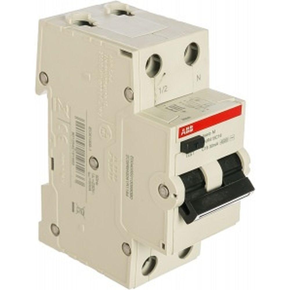 Автоматический выключатель дифференциального тока ABB 1P+N 16А C4.5kA30мA AC BMR415C16 2CSR645041R1164