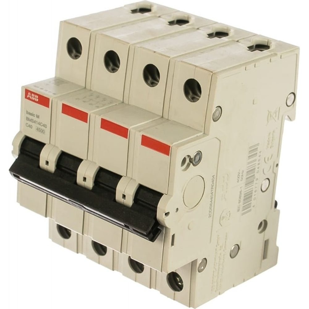 Автоматический выключатель ABB 4P, 40A, C, 4,5кА, BMS414C40 2CDS644041R0404