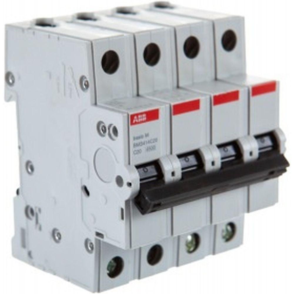 Автоматический выключатель ABB 4P, 20A, C, 4,5кА, BMS414C20 2CDS644041R0204