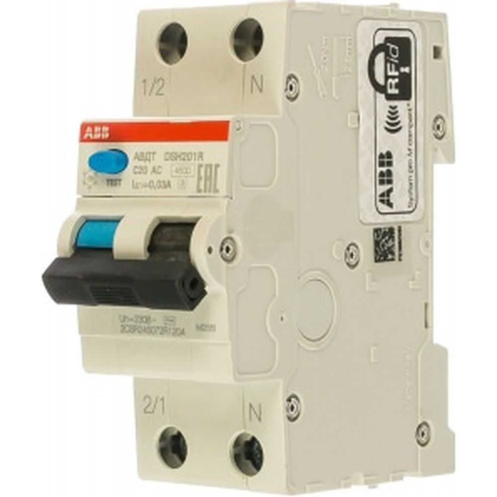 Автоматический выключатель дифференциального тока ABB DSH201R C20 AC30 2CSR245072R1204