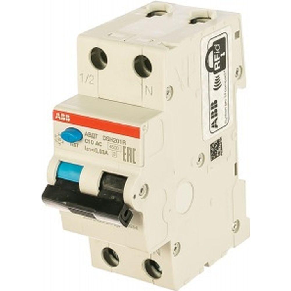 Автоматический выключатель дифференциального тока ABB DSH201R C10 AC30 2CSR245072R1104