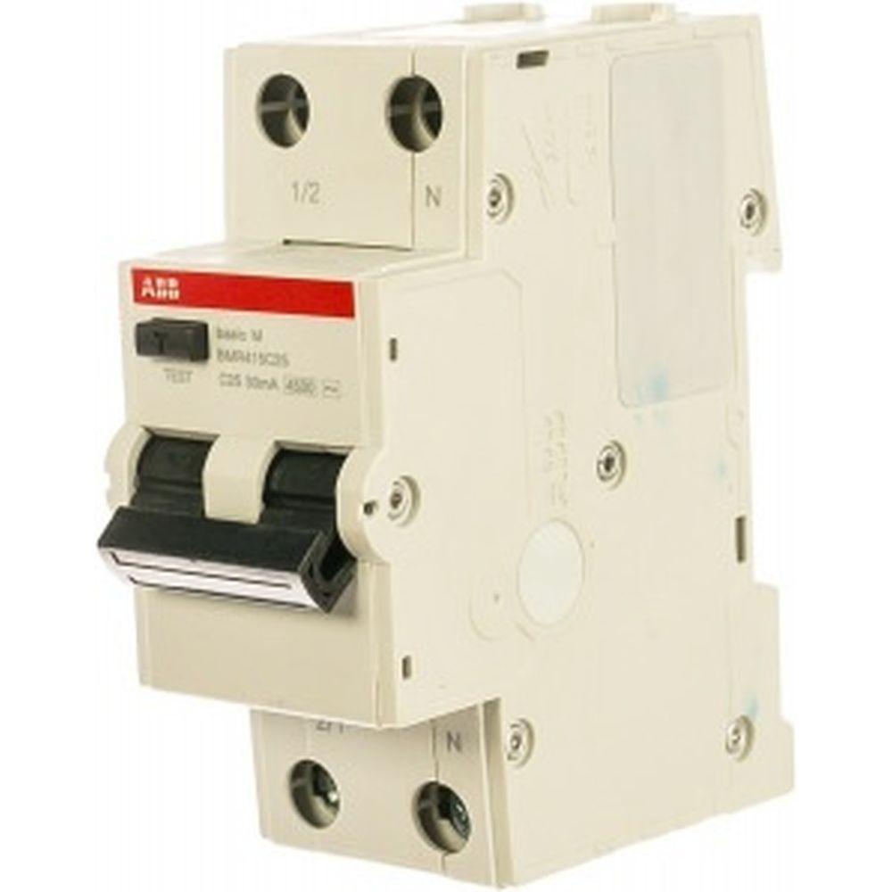 Автоматический выключатель дифференциального тока ABB Basic M АВДТ, 1P+N, 25А, C, 30мA, AC, BMR415C25 2CSR645041R1254