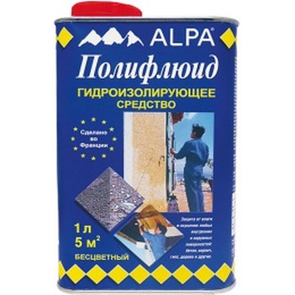 Гидроизолирующее средство Polyfluid защита от влаги 1 л ALPA 1004026