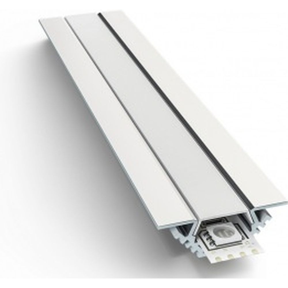 Алюминиевый угловой профиль Apeyron накладной, анодированный, серебро, 2 м. 3014 08-03