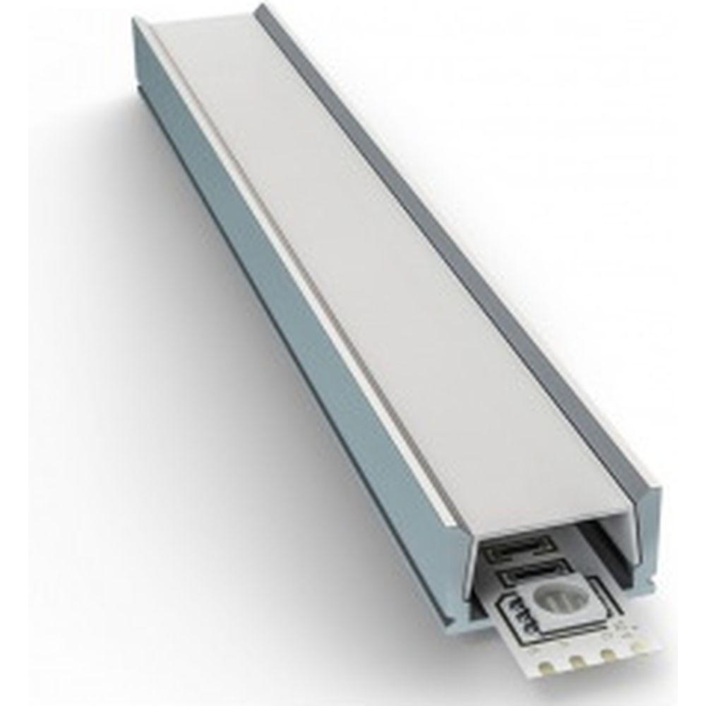 Алюминиевый прямой профиль Apeyron накладной, серебро, 2 м., 3011 08-01
