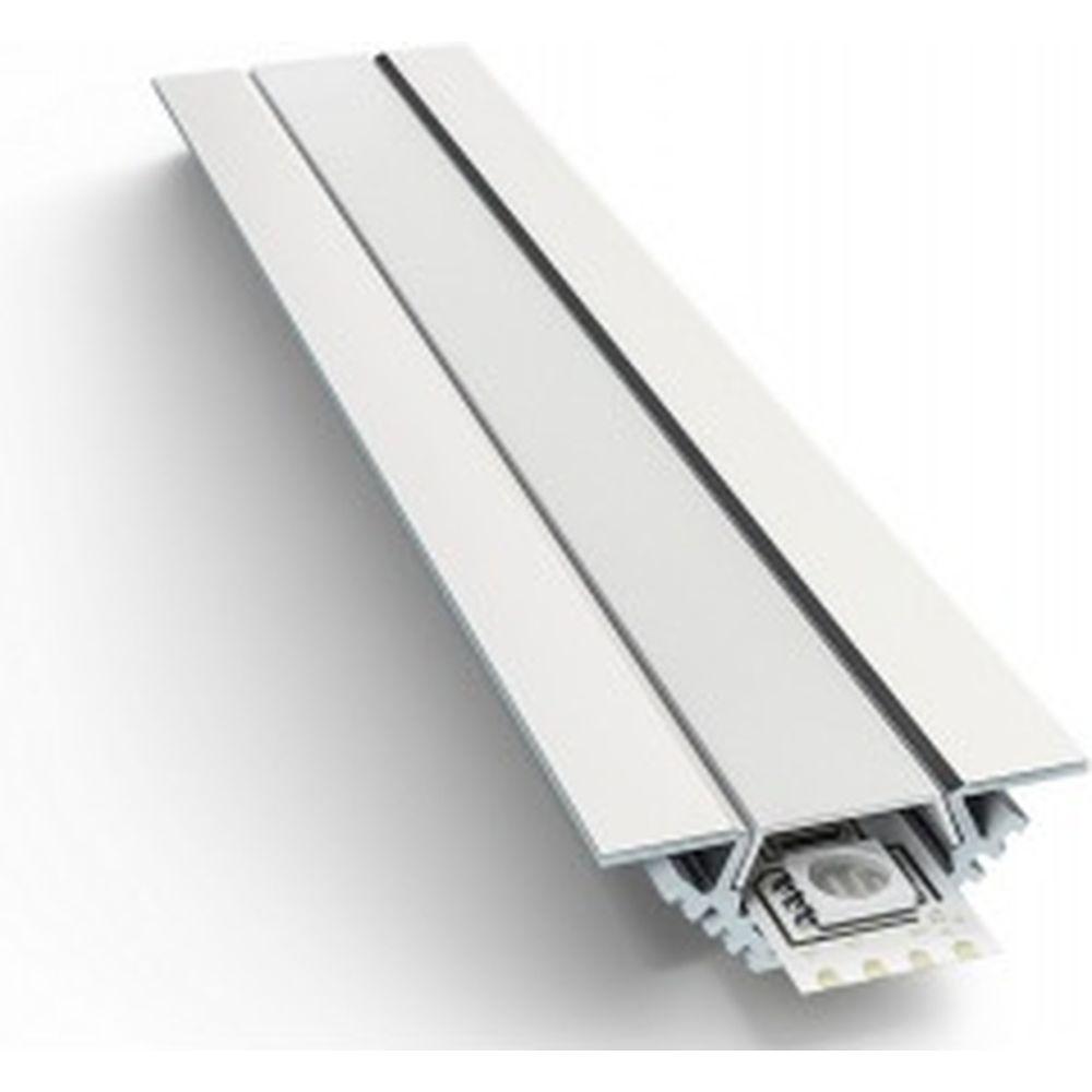 Алюминиевый угловой профиль Apeyron накладной с креплением, анодированный, серебро, 1 м. 3014 08-07