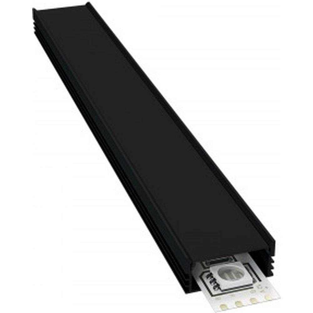 Алюминиевый П-образный профиль APEYRON для светодиодной ленты, черный 08-10-Ч