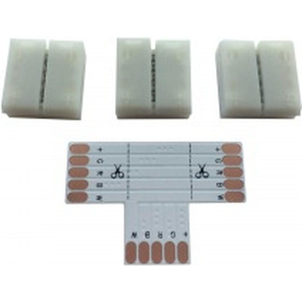 Комплект коннекторов APEYRON для RGBW светодиодной ленты 12В, IP20, подложка 12мм. 09-73