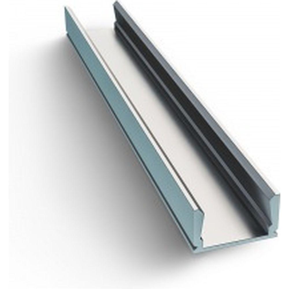 Алюминиевый прямой накладной профиль для светодиодной ленты APEYRON 08-01-01