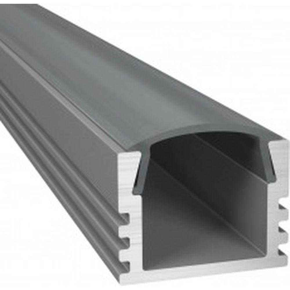 Алюминиевый профиль ArdyLight накладной ALS-1125 anod 2.0 c экраном 50003